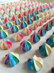 Rainbow Mini Meringues