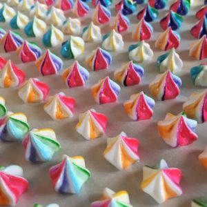 Rainbow Mini Meringues