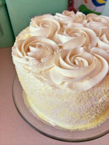 Easter Banana Chiffon Cake with Cream Cheese Frosting