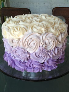 purple ombre coconut cake