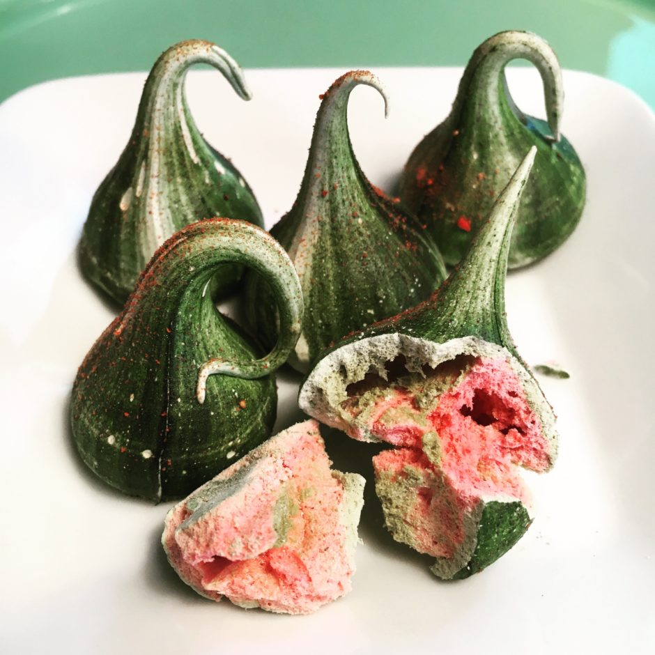Strawberry Matcha Meringue