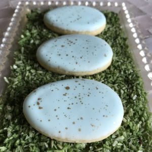 Pussy Willow Speckled Egg Cookies