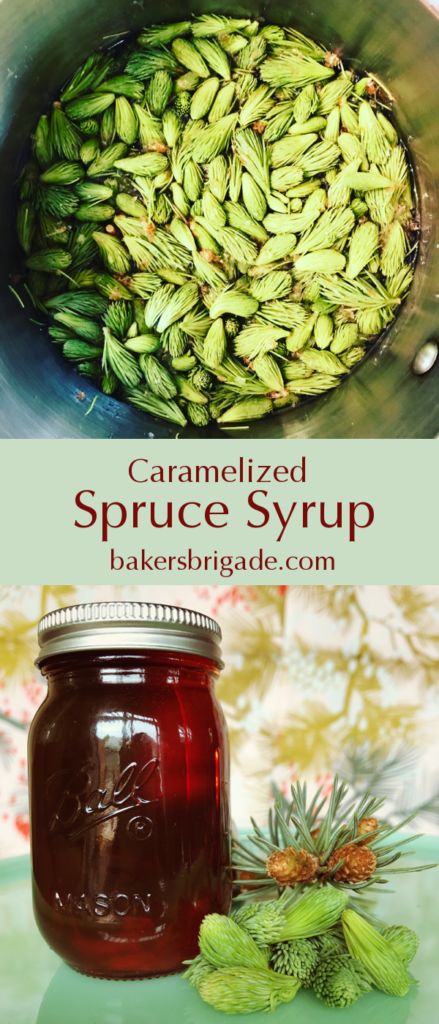 Caramelized Spruce Syrup