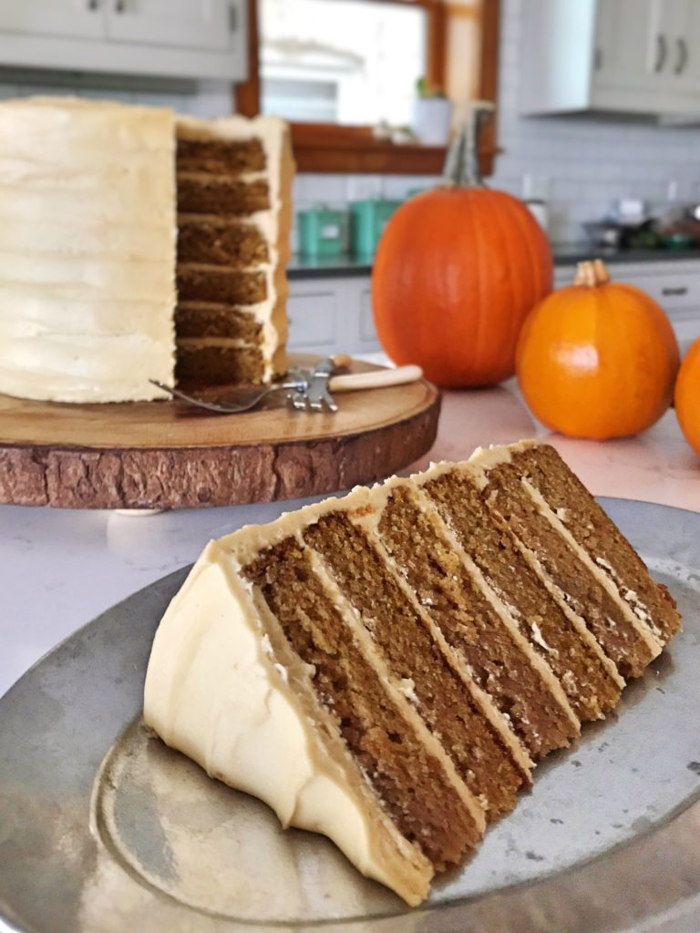 Pumpkin Cake With Molasses Cream Cheese Frosting