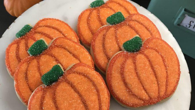 Sparkly Pumpkin Cookies