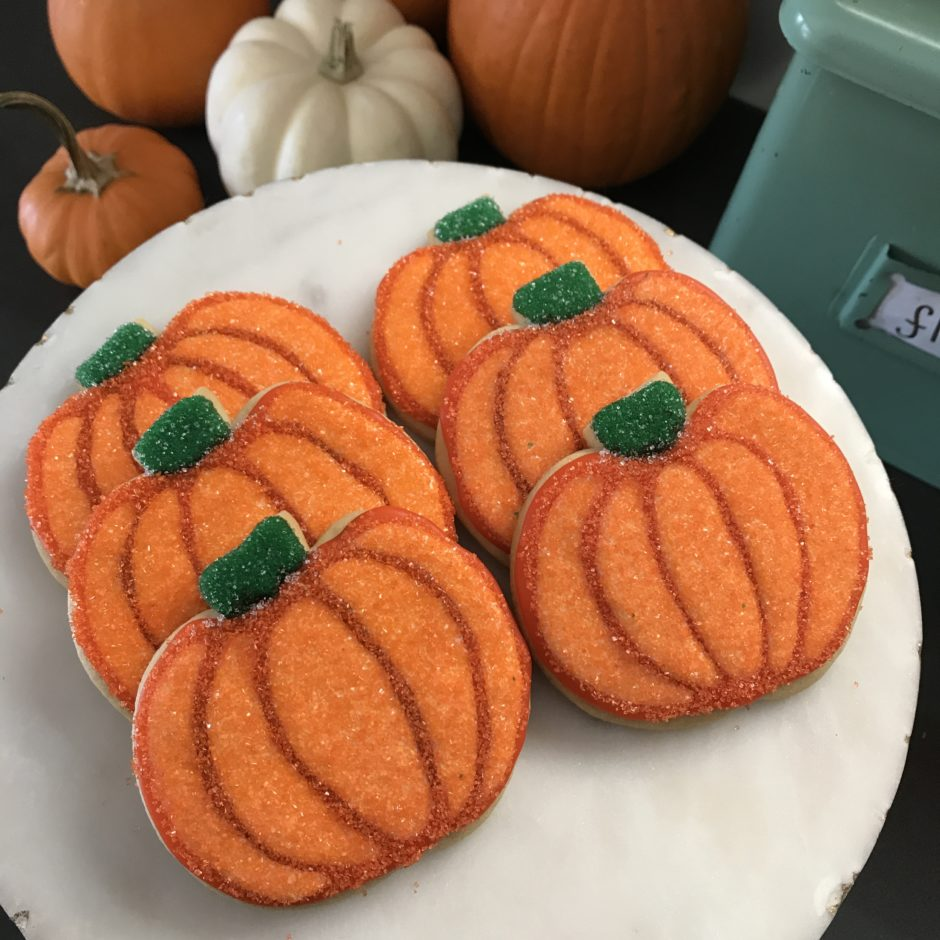 Sparkly Pumpkin Cookies
