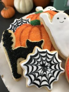Black and White Halloween Cookies