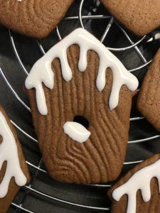 Gingerbread Birdhouse Cookies