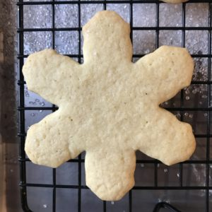 Orange-Cardamom Snowflake Cookies