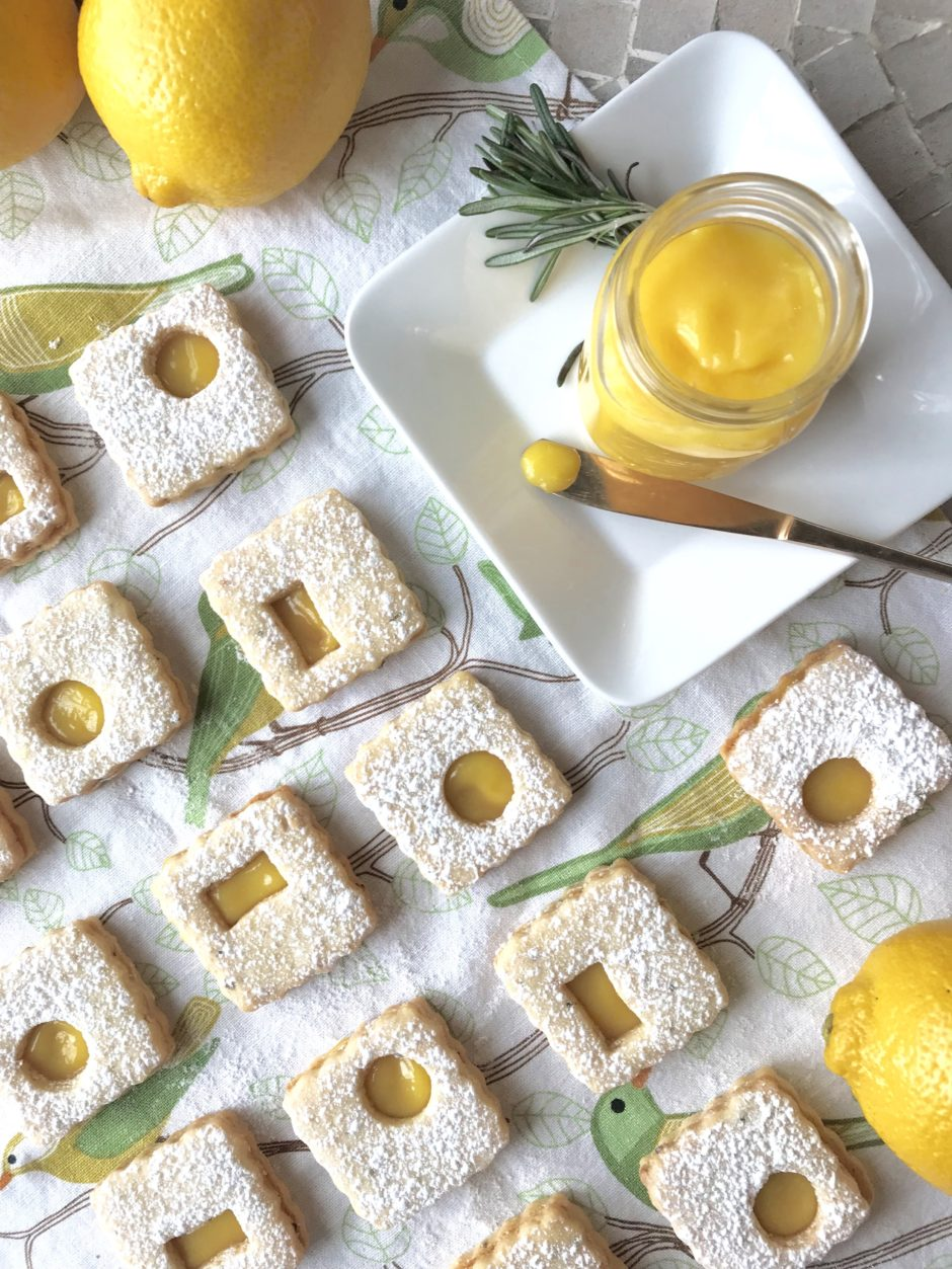 Lemon-Rosemary Linzer Cookies