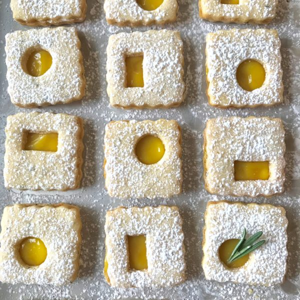 Lemon-Rosemary Linzer Cookies