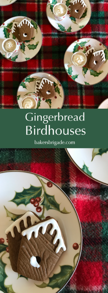 Gingerbread Birdhouse Cookies