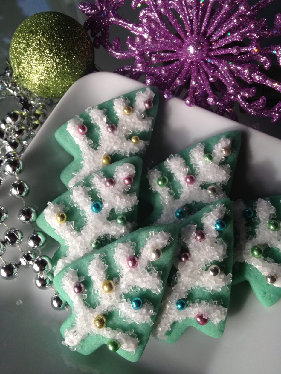 Tinsel Tree Mini Cookies