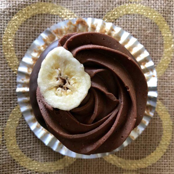 chocolate banana cupcakes