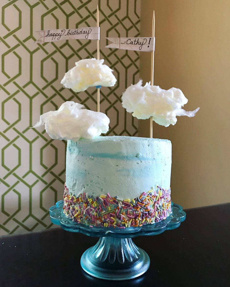 Cotton Candy Cloud Cake Bakers Brigade